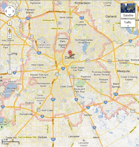 dallas texas map dallas tx map images
