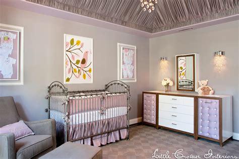 design nursery gray and lavender nursery by crown interiors