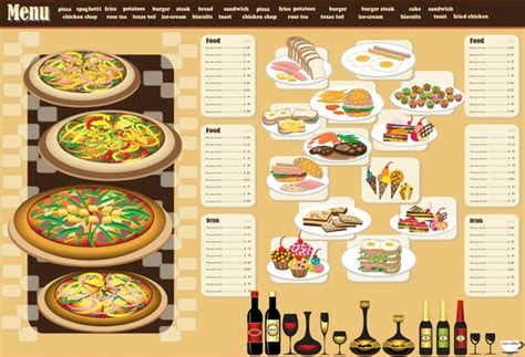 restaurant menu design template vector free vector in