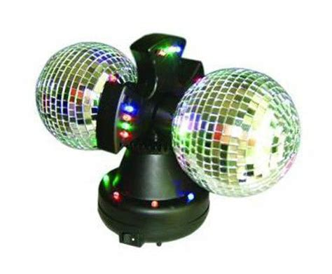 rotating led disco light twin mirror rotating disco ball dj party led light l ebay
