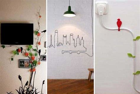 where to hide in your room diy ideas to hide the wires in the wall room