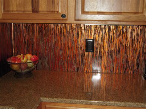 kitchen copper backsplash