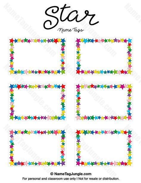 name templates for preschool free printable name tags the template can also be
