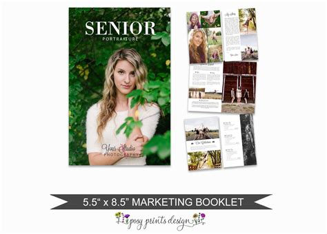 Senior Magazine Template For Photographers 8 Page Studio Senior Magazine Templates For Photographers