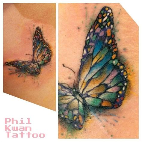 watercolor butterfly tattoo neato ness pinterest