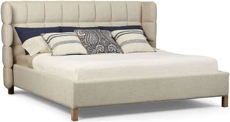 shelter bed epicenters austin cream north loop king upholstered