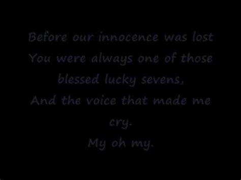 Detox Five Placebo Lyrics by Placebo Song To Say Goodbye Lyrics