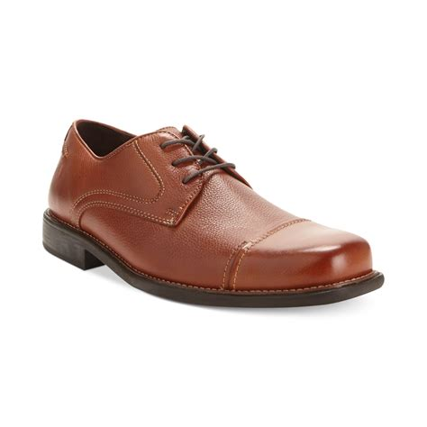 johnston and murphy brown shoes johnston murphy mccomb cap toe shoes in brown for