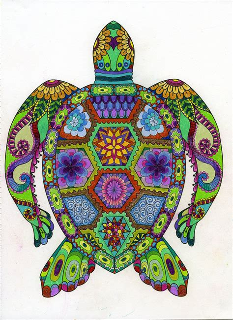 colored pages pin by leisure arts on colored pages mandala turtle