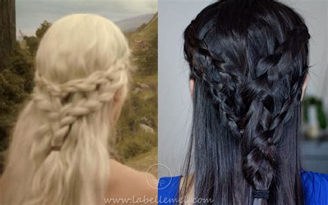 how to do khaleesi braids game of thrones khaleesi princess daenerys casual braid