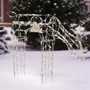 holiday time 40 quot tall animated feeding doe light sculpture
