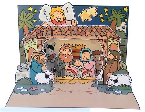 pop up nativity card template nativity pop up card http www