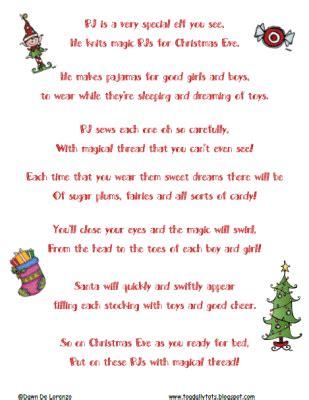 pj  pajama elf poem freebie craft ideas merry christmas poems christmas poems