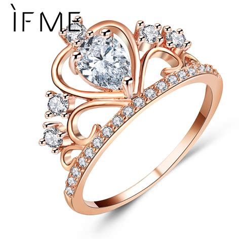 Wedding Ring Princess by If Me Fashion Princess Crown Engagement Rings With