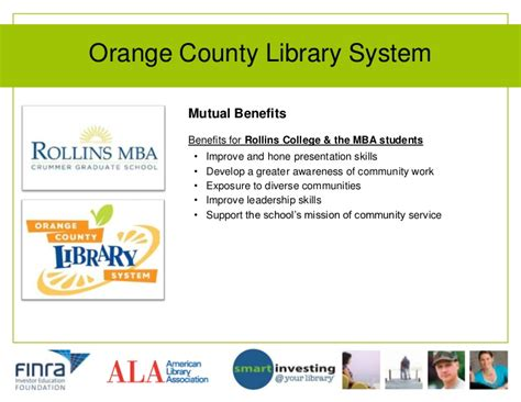 Mba Program In Orange County by Smart Investing Your Library Program Models That Work