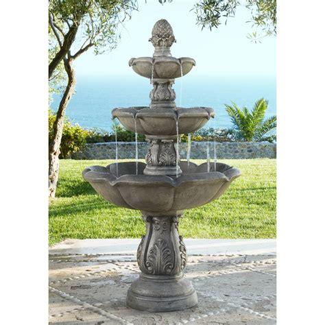 outdoor fountains patio garden water fountains lamps