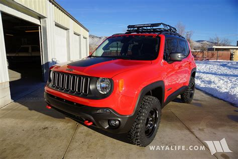 Jeep Trailhawk Lifted Jeep Renegade Trailhawk Daystar 1 5 Quot Lift 225 75r16
