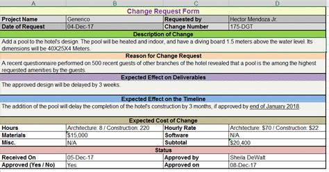 server request form template change request template free project management templates
