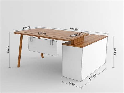 profondità scrivania scrivania moderna con mobile di servizio da ufficio