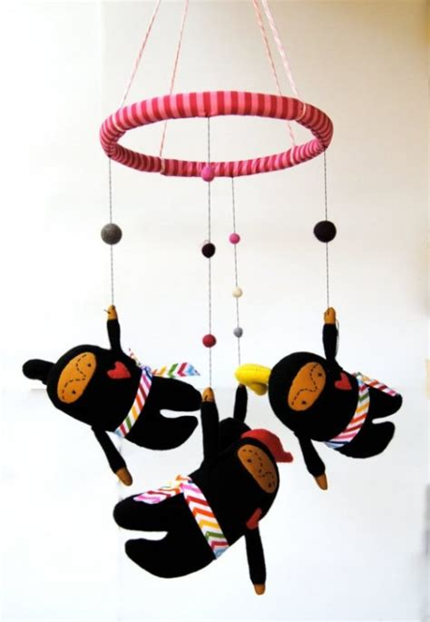 Handmade Crib Mobile - non traditional and handmade crib mobiles by