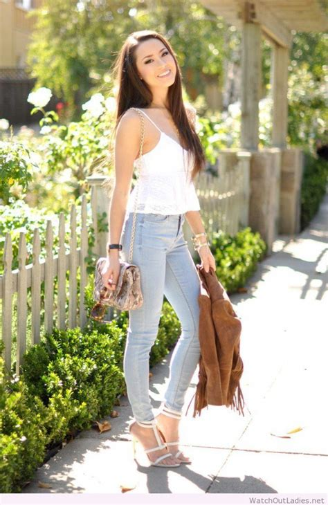 fashionable jeans outfit ideas  spring summer