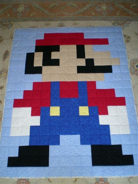 Mario Quilt by 17 Best Images About 8bit Crochet On Perler