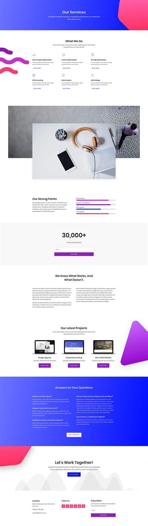 Seo Company 2 by A Free Goal Oriented Seo Layout Pack For Divi