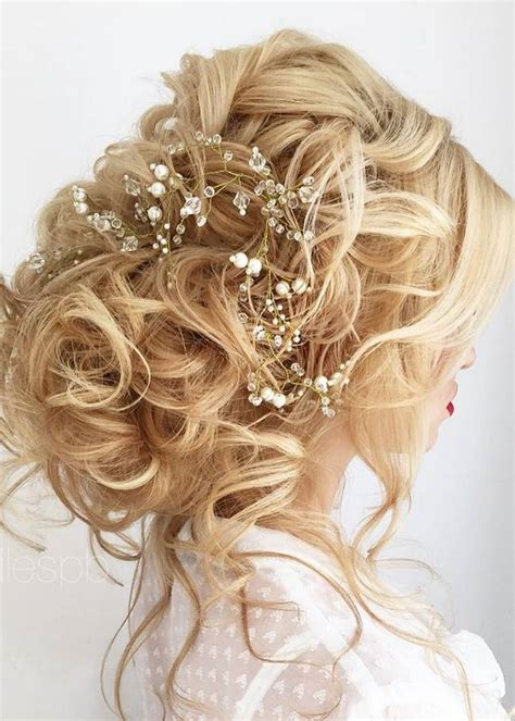 chic wedding hair updos  elegant brides deer pearl