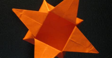 Origami 6 Pointed - easy origami 6 point comot