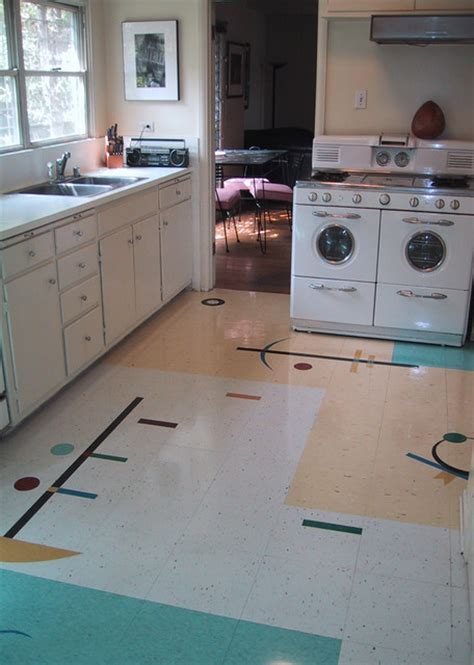 retro kitchen flooring my friend s floor midcentury kitchen los angeles