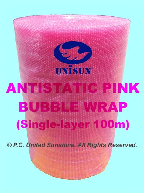 Spesial Buble Wrap Packing antistatic pink wrap 1m x 100m plastic packaging