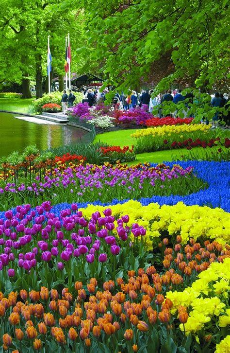 Netherlands Flower Garden Keukenhof Gardens Netherlands Gardening Ideas