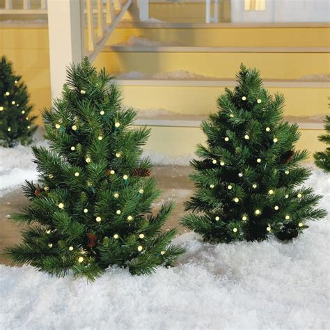 porch christmas trees outdoor christmas decoration