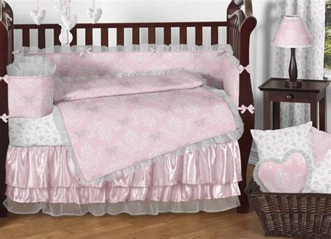 elegant crib bedding boutique pink grey and white elegant cute baby girl crib
