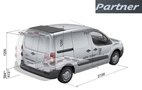 peugeot partner dimensions hire a small van in london surrey hshire and kent