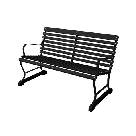 black patio bench terrace 48 in black and black patio bench ivb48fblbl