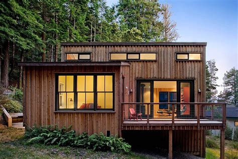 small modern cabin plans a cottage in the redwoods by cathy schwabe small house bliss