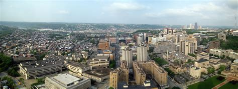 Of Pittsburgh Search File Of Pittsburgh Looking South West Seen From The Cathedral Of Learning