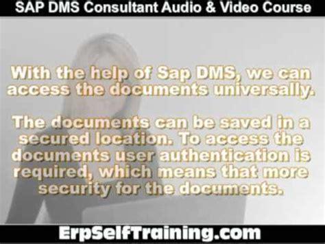 tutorial dms sap sap dms consultant audio video tutorial course youtube