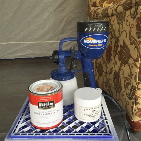chalk paint sprayer chalk paint upholstery with a sprayer