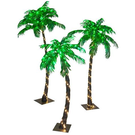 Curved Led Lighted Tropical Palm Tree Outdoor Decoration Outdoor Lighted Palm Tree