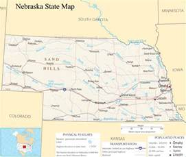 nebraska state map a large detailed map of nebraska