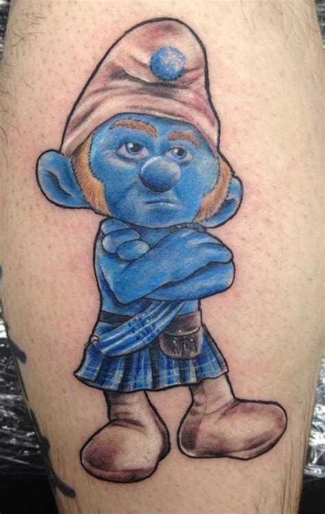 smurf tattoo designs 14 best smurf schlumpf tattoos images on