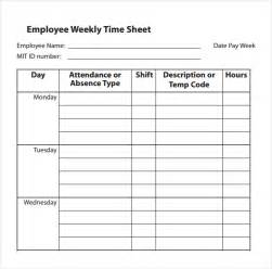 employee timesheet template employee timesheet template 6 time sheet templates