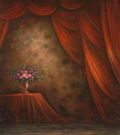 curtain paintings aliexpress com buy fantasy oil painting red curtain