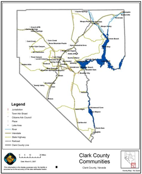 clark county section 8 nevada county map nevada printable map state and county
