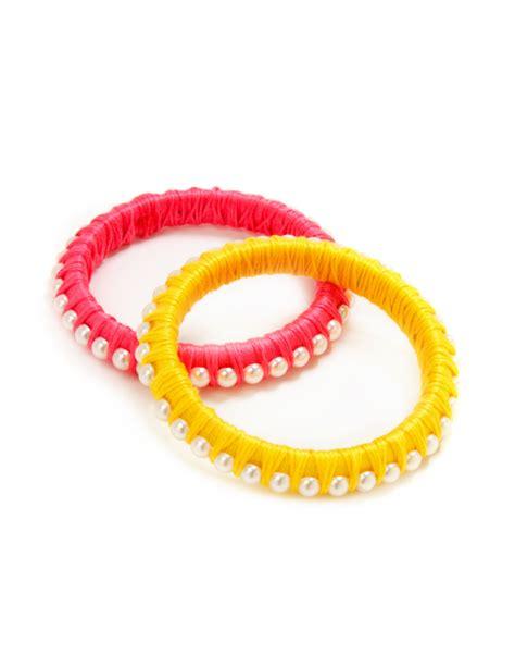 Thread and Pearl Bangle Bracelets by Kollabora   Project   Jewelry   Kollabora