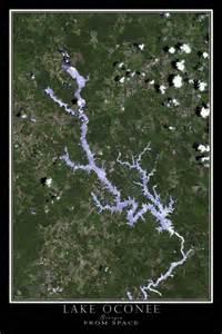 lake oconee from space satellite poster