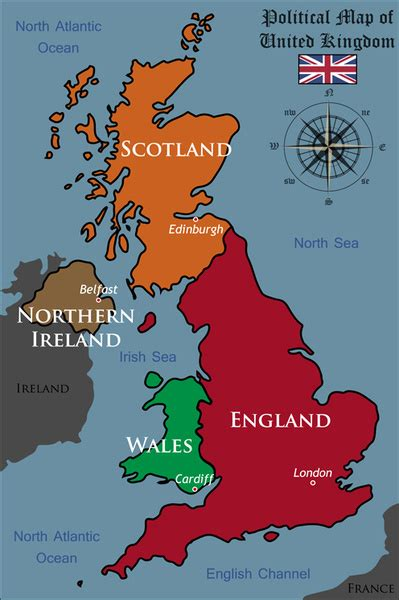 united kingdom political map united kingdom political map vector free vector in