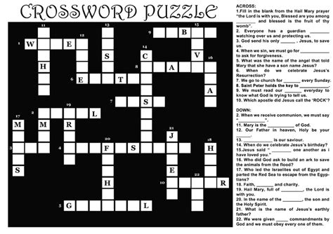 printable crossword puzzles 5 coloring